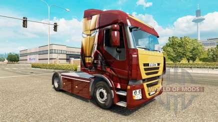 La piel de Iron Man en el tractor Iveco para Euro Truck Simulator 2