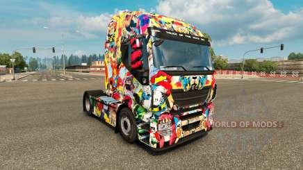 La piel del Universo de Marvel en el camión Iveco para Euro Truck Simulator 2