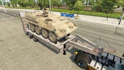 Semi llevar equipo militar v1.6 para Euro Truck Simulator 2