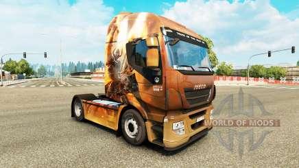 La piel de la Fantasía de los Caballeros en el camión Iveco para Euro Truck Simulator 2