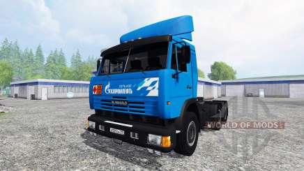 KamAZ-54115 Gazprom Neft v2.0 para Farming Simulator 2015