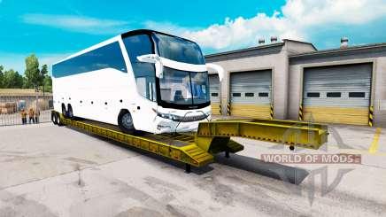 Bajo el barrido con la carga de bus para American Truck Simulator