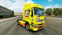 Racing Amarillo de la piel para Renault Premium