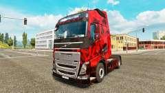 Demonio Cráneo de la piel para camiones Volvo