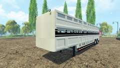 Semi-remolque para el transporte de ganado para Farming Simulator 2015
