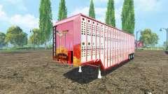 Semirremolque-ganado, estados UNIDOS para Farming Simulator 2015
