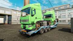 Semi remolque-carro transportador con camiones d