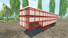 Semirremolque-ganado portador para Farming Simulator 2015