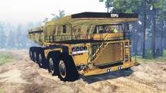 Camión de minería de 10x10 para Spin Tires