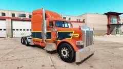 Vintage de la piel para el camión Peterbilt 389