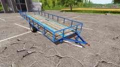 Remolque para el transporte de la madera v0.5 para Farming Simulator 2017