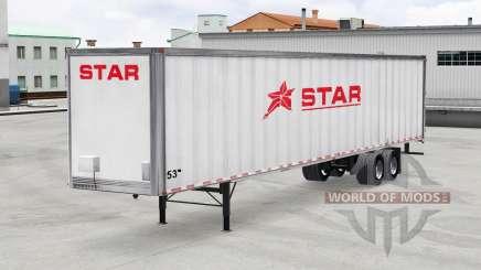 La Piel De La Estrella De Transporte Inc. en el trailer para American Truck Simulator