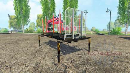 Una plataforma de madera con manipulador v1.3 para Farming Simulator 2015
