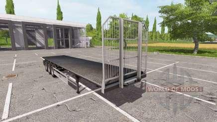Semi-remolque-Fliegl plataforma para Farming Simulator 2017