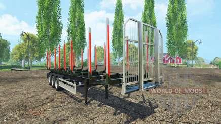 La madera Fliegl semi remolque v1.5 para Farming Simulator 2015