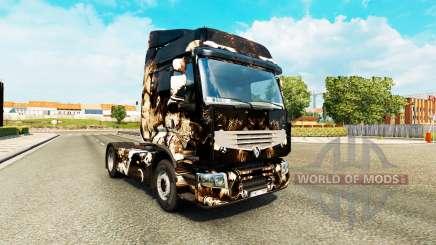 La piel del Horror de la Noche, en una unidad tractora Renault Premium para Euro Truck Simulator 2