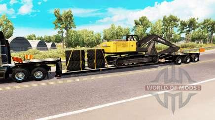 Bajo el barrido con la carga de la excavadora para American Truck Simulator