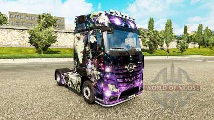 La piel del Melocotón Chica en el tractor Mercedes-Benz para Euro Truck Simulator 2