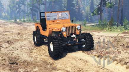 Jeep Willys M38 CJ2A crawler para Spin Tires