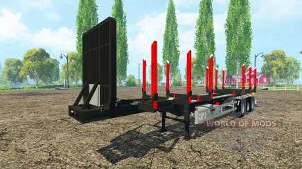 Huttner madera remolque para Farming Simulator 2015
