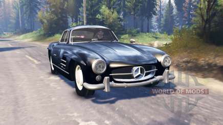 Mercedes-Benz 300 SL (W198) v2.0 para Spin Tires