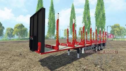 Semi-remolque Kogel de madera para Farming Simulator 2015