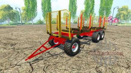 Fliegl timber trailer v2.4 para Farming Simulator 2015