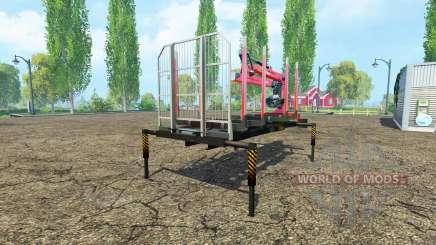 Una plataforma de madera con manipulador v1.2 para Farming Simulator 2015