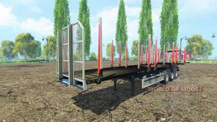 La madera Fliegl semi remolque v1.1 para Farming Simulator 2015