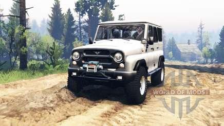 UAZ hunter 315195 v2.0 para Spin Tires