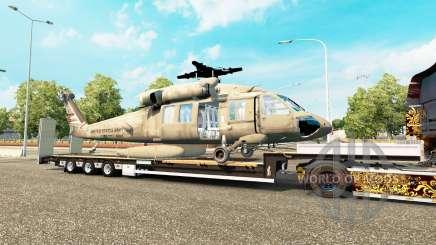 Baja barrido con un helicóptero de carga para Euro Truck Simulator 2