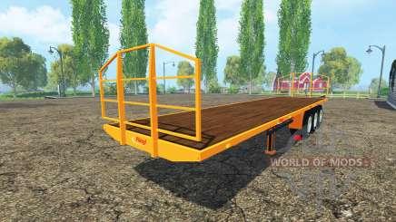 Semi-remolque-Fliegl plataforma para Farming Simulator 2015