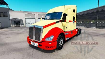 La piel en TLM tractor Kenworth T680 para American Truck Simulator