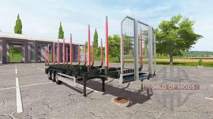Semi-remolque Fliegl timber para Farming Simulator 2017