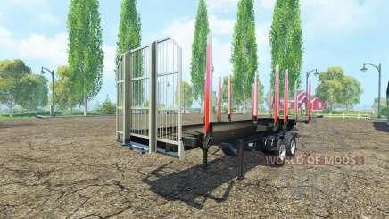 Semi-remolque Fliegl timber para Farming Simulator 2015