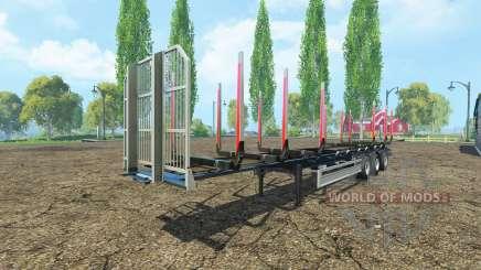 Semi-remolque Fliegl timber v2.0 para Farming Simulator 2015