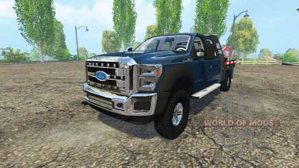 Ford F-550 flatbed para Farming Simulator 2015
