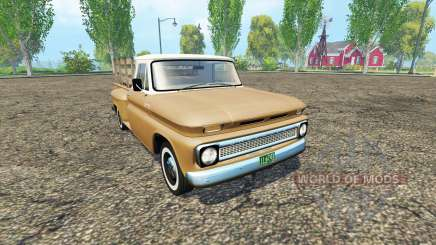 Chevrolet C10 1966 fleetside lwb para Farming Simulator 2015