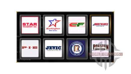 Logotipos de la compañía de Estados unidos para American Truck Simulator