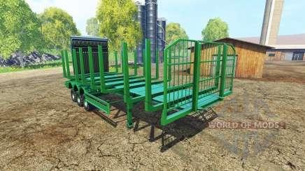 Un gran semi-remolque de madera para Farming Simulator 2015