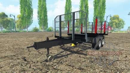 La madera remolque BRANTNER para Farming Simulator 2015