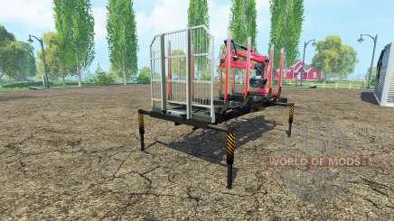 Una plataforma de madera con manipulador v1.6 para Farming Simulator 2015