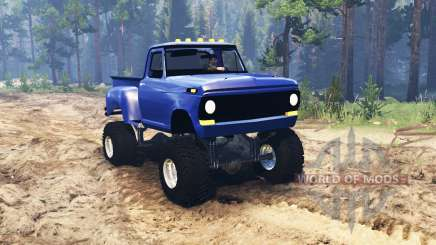 Ford F-100 1968 StepSide para Spin Tires