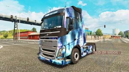 La piel de Espacio de la Naturaleza en un camión Volvo para Euro Truck Simulator 2