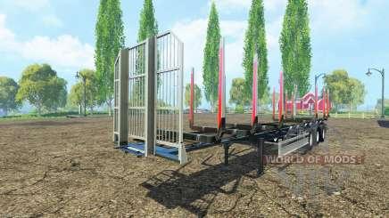 Semi-remolque Fliegl timber v3.0 para Farming Simulator 2015