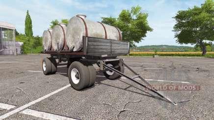 Remolque con barriles para Farming Simulator 2017
