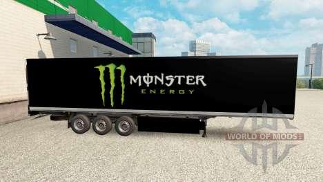 La piel de Monster Energy para la semi para Euro Truck Simulator 2