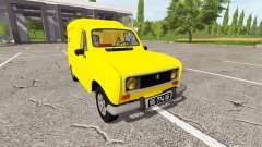 Renault 4 fourgonnette para Farming Simulator 2017