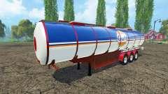 Combustible semi-remolque