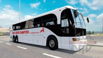 Una colección de autobuses en el tráfico de v1.1 para American Truck Simulator